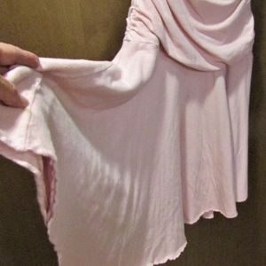 Velvet Dresses - Soft Pink Drape Cotton Fitted Dress